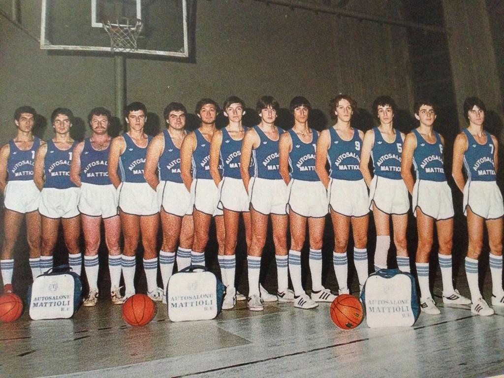 1981/82 – Al via del campionato di Promozione l'Arbor Austosalone Mattioli schierava questa squadra
